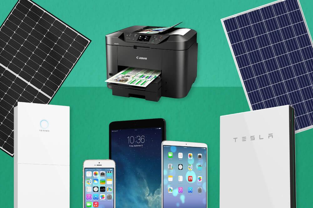 eofy sales 2021 tablet solar panel printer smartphone battery for home