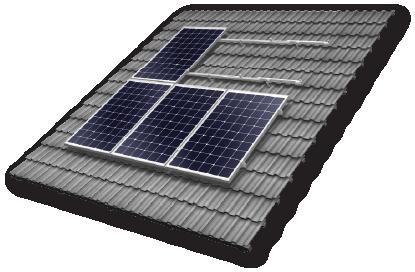 6.6 kw solar system mounting kit